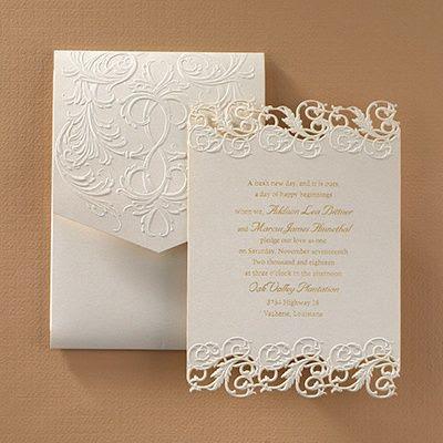 Invito di nozze classico elegante