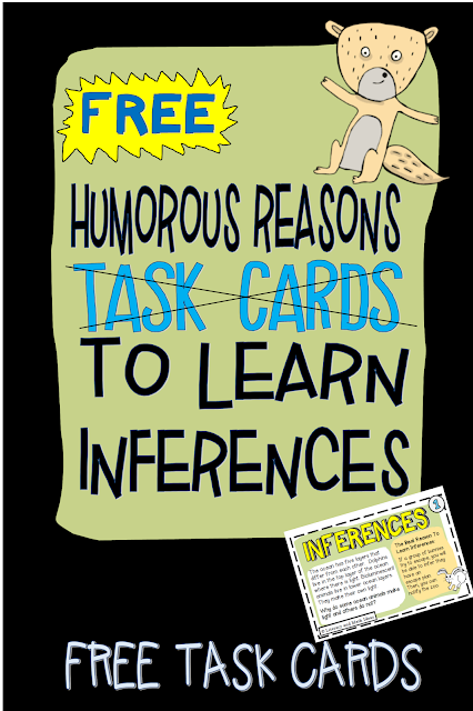 photo relating to Free Printable Task Cards named Literacy Math Designs: Exciting Freebie (Cost-free Inference Undertaking Playing cards)