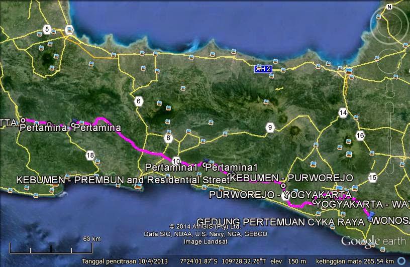 Perjalanan ke Wonosari (Trip to Jatim day 1)