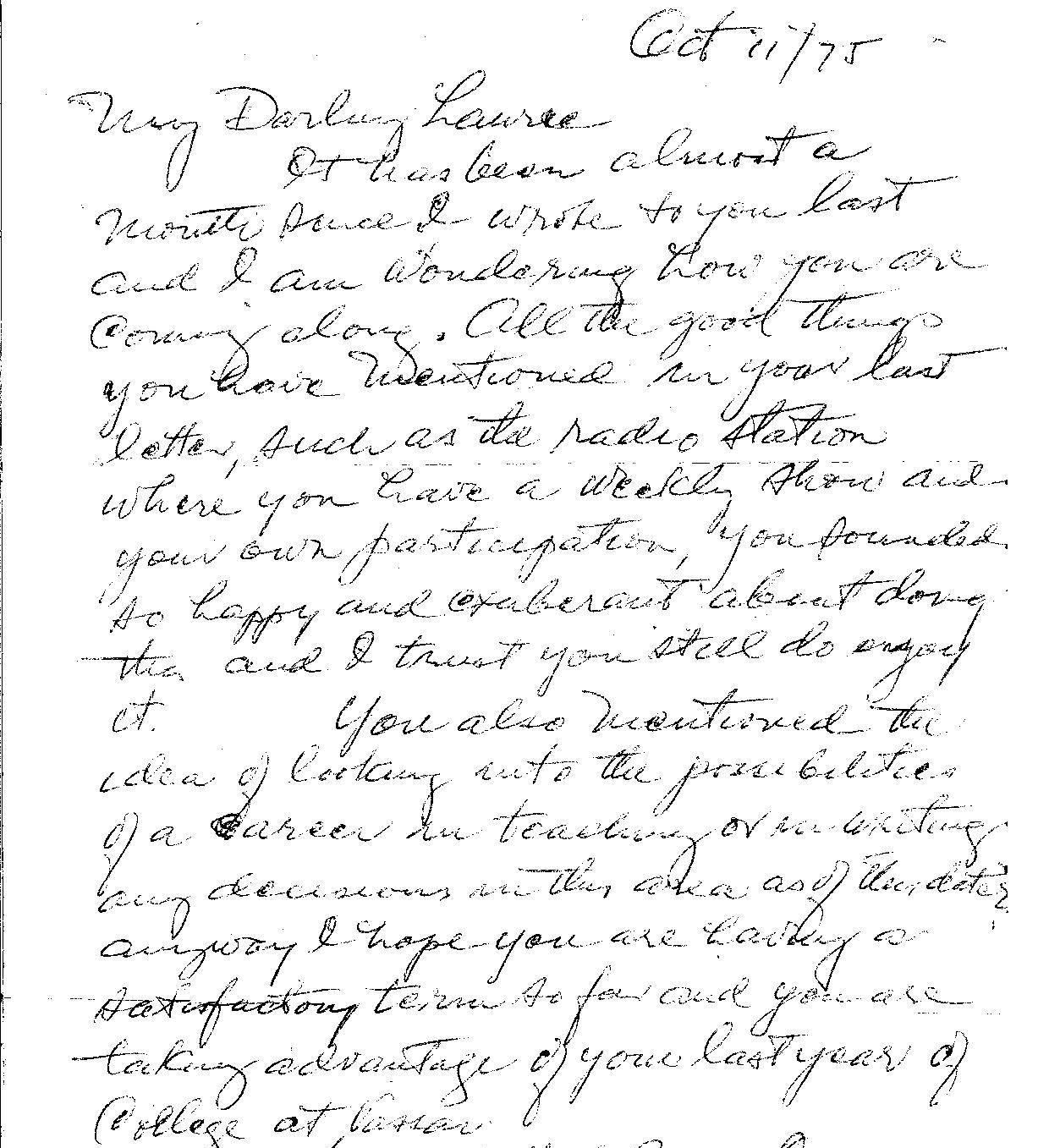 Life Letters Handwritten Treasures