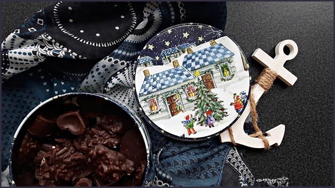 Last Minute Geschenk Weihnachten Küche Mandelsplitter Schokolade DIY selbstgemacht