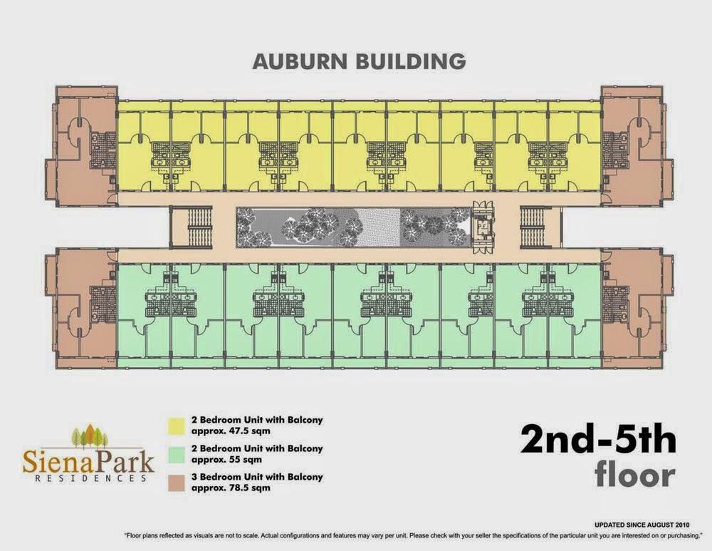 Siena Park Residences 2nd - 5th Floor Plan