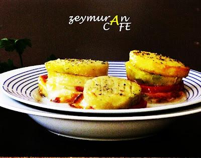 Kaşarlı domatesli cizik patates