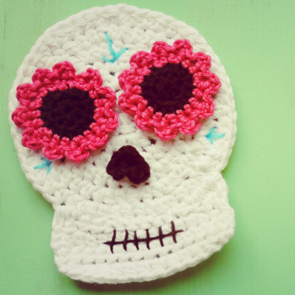 calavera mexicana (catrina) a crochet