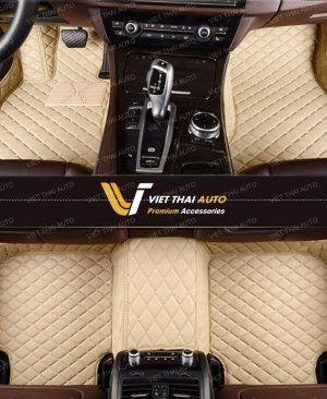 mẫu thảm lót sàn ô tô 5d màu kem