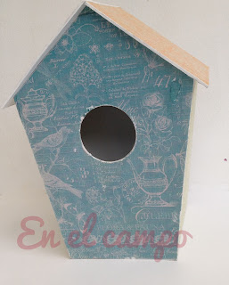 maisonnette nichoir cartonnage birdhouse cartoon