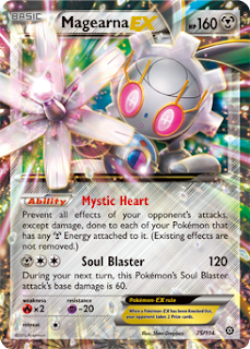 Magearna EX Steam Siege Pokemon Card