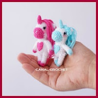 Mini unicornios amigurumi