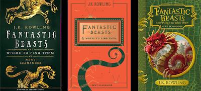 """Copertine delle nuove edizioni di """"Fantastic Beasts and Where to Find Them"""""""