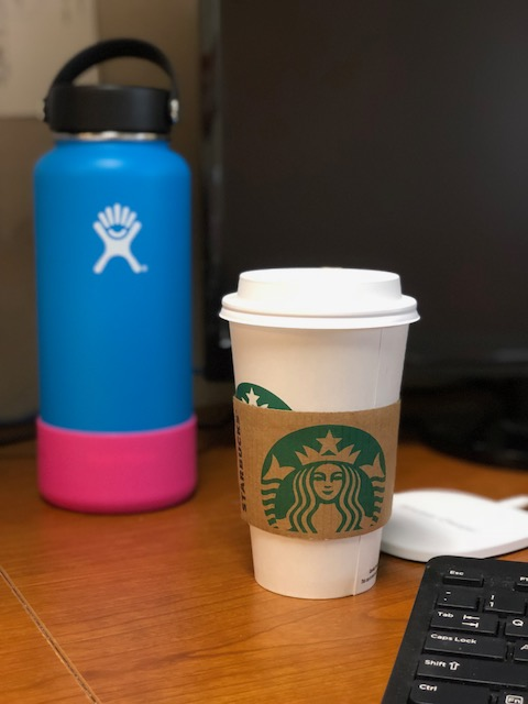Starbucks and Hydroflask