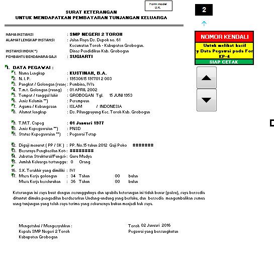 Aplikasi Pembuatan KP-4 Praktis Format Excel