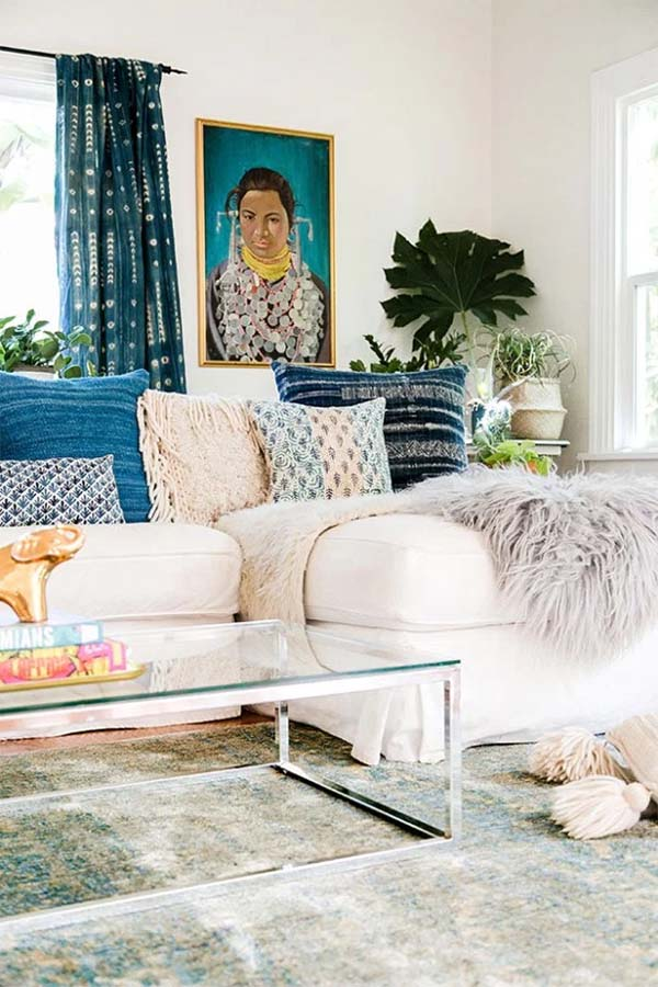 They also sell equally boho armchairs in a similar style to this Peacock  headboard. And they ship internationally!
