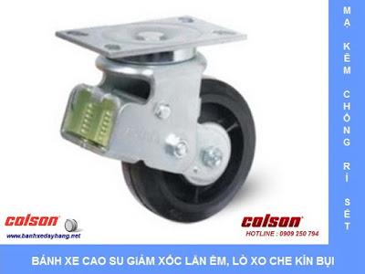 Bánh xe đẩy giảm xóc lò xo đôi có hộp bảo vệ Colson Caster tại Hà Nội www.banhxepu.net