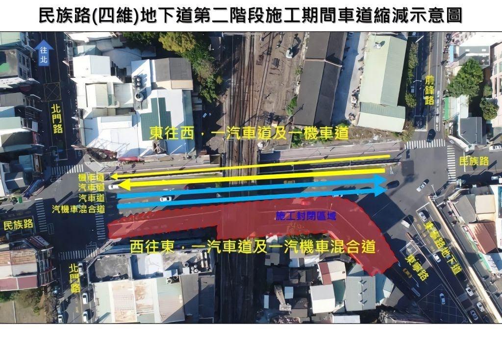 塞上加塞!南鐵地下化交管|11/30小東地下道、12/2四維地下道|替代路線全攻略