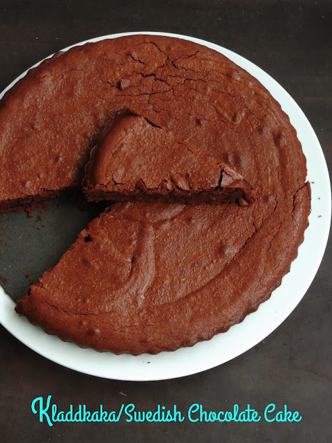 Swedish gooey Chocolate Cake, Kladdkaka