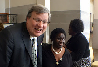 Mayor Strickland and Savannah Morris