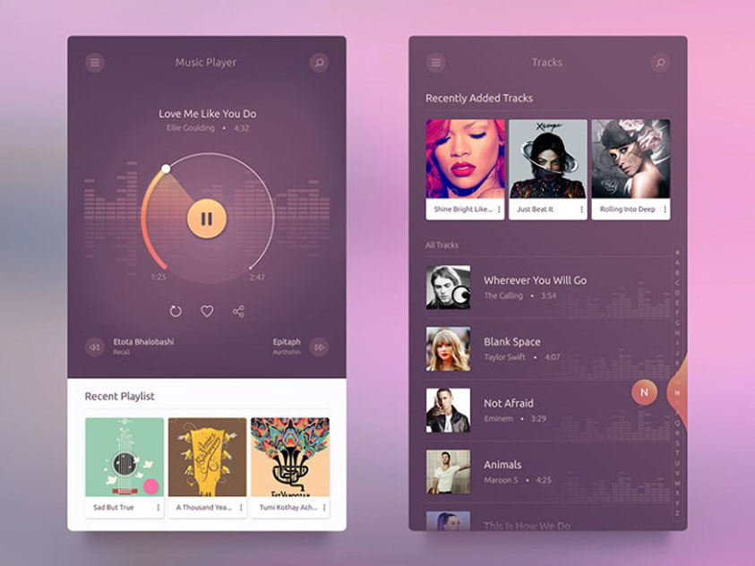 Android Music Player UI