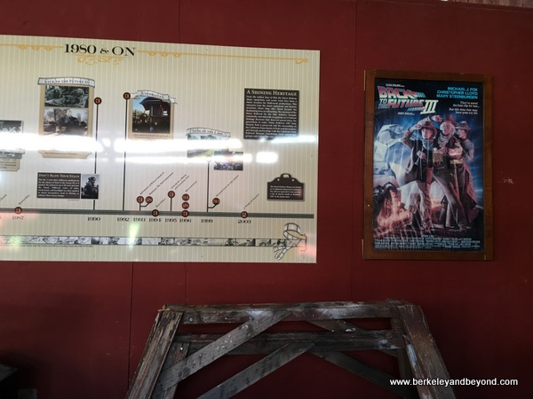 Hollywood exhibit at Railtown 1897 State Historic Park in Jamestown, California