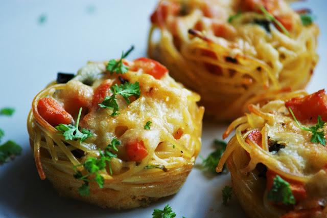 Vegetarische Spaghetti Muffins