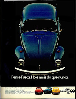 propaganda fusca - 1975. brazilian advertising cars in the 70. os anos 70. história da década de 70; Brazil in the 70s; propaganda carros anos 70; Oswaldo Hernandez;