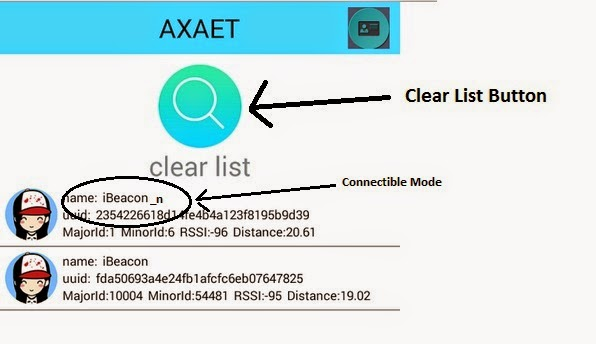 My Gadget Blog: Configuring the Axaet Ibeacons