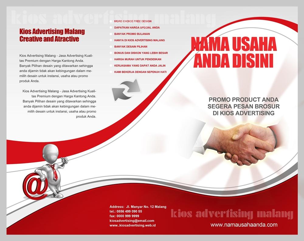 Contoh Desain Brosur Kios Advertising   Kios Advertising Malang