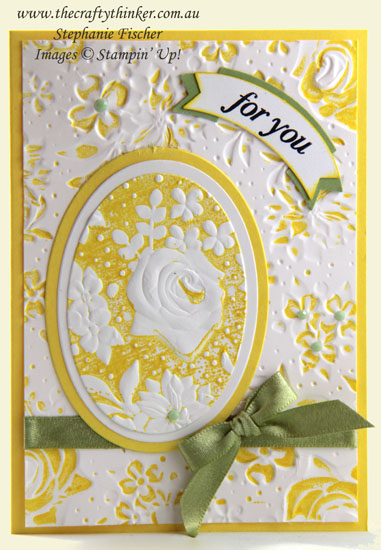 #thecraftythinker #stampinup #countryfloral #saleabration2019 #cardmaking , Country Floral Embossing Folder, Sale-A-Bration, Stampin' Up Australia Demonstrator, Stephanie Fischer, Sydney NSW