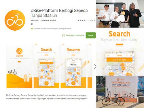 Sepeda wisata oBike di Bandung