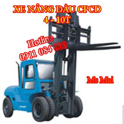 Xe nâng dầu 4-10 tấn nâng cao 3m-12m