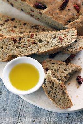 Gluten-Free Sun-Dried Tomato Bread