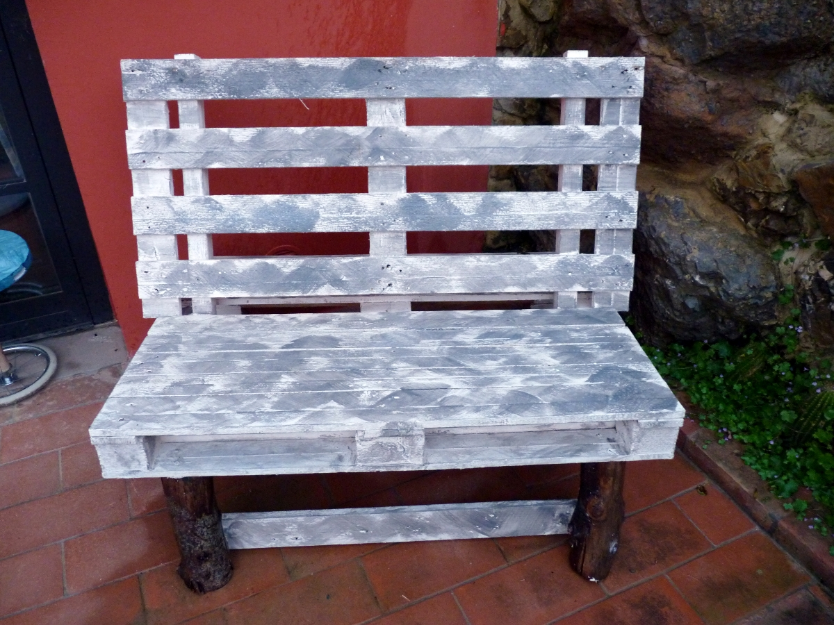 Le mie idee creative panchina con pallet for Panchine con bancali