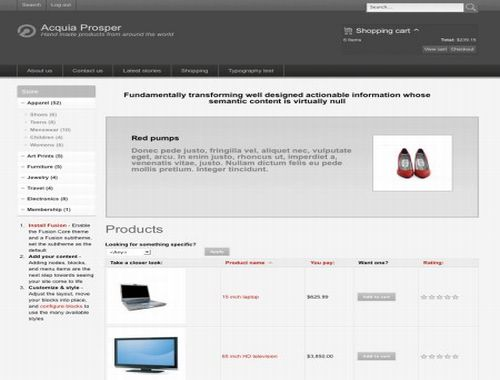 Responsive template store: july 2009.