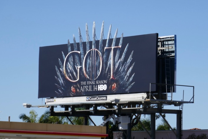 Game of Thrones final season dragon billboard