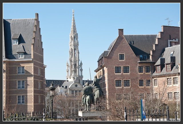 Estatua Don Quijote y Sancho Panza Bruselas