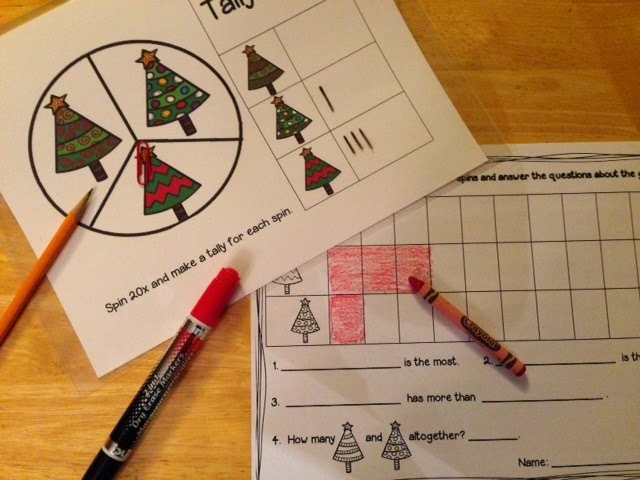 http://www.teacherspayteachers.com/Product/Spin-and-Graph-Data-Management-Math-Centers-Christmas-Edition-1574977