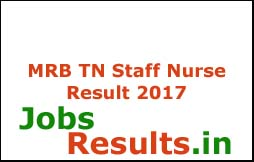 MRB TN Staff Nurse Result 2017