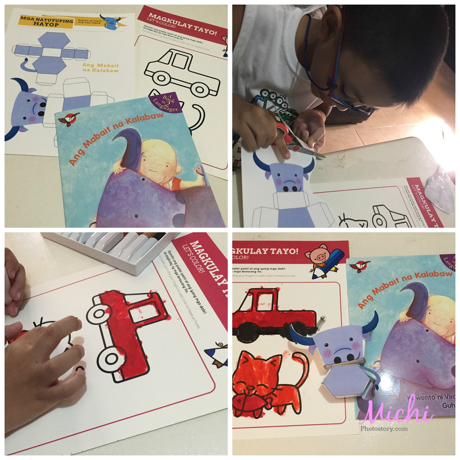 Michi Photostory Learning Filipino With Buribox