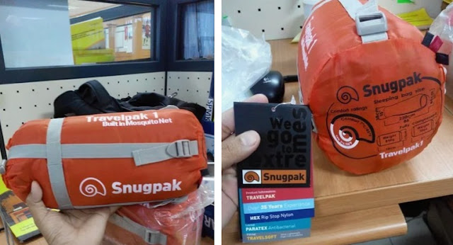 Review Sleeping Bag Snugpak Travelpak 1