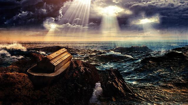 Toda face da Terra foi coberta pelas águas do dilúvio