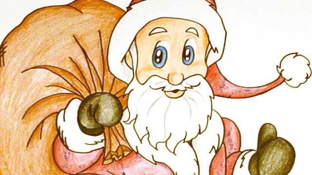 طريقة رسم بابا نويل كامل