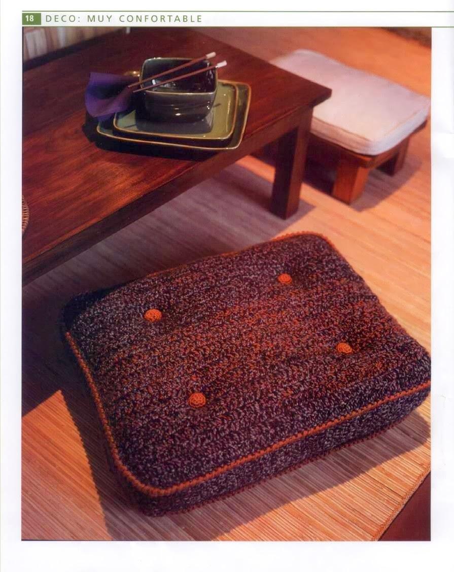 Almohadon con Fuelle Crochet Instrucciones