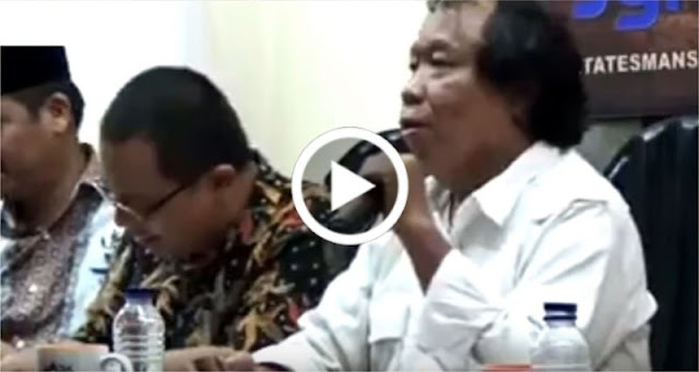 [Video] Astaghfirullah!! Budayawan Ini Ucapkan 'Shollallahu 'Ala Ahok'..