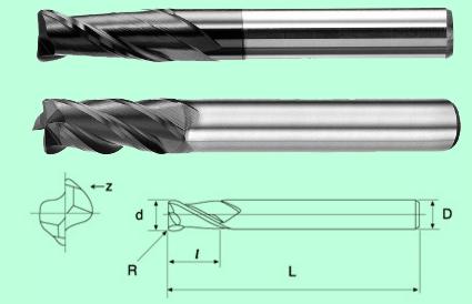 Dao phay ngón thân dài Carbide ( NOSE CUTTER LONG FLUTE – 2/4 Flutes)