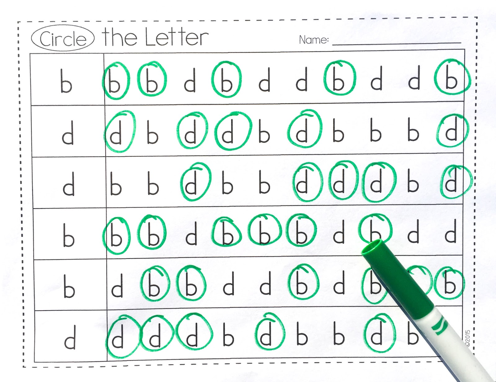 Extra Special Teaching Helping B And D Reversals Freebie Included