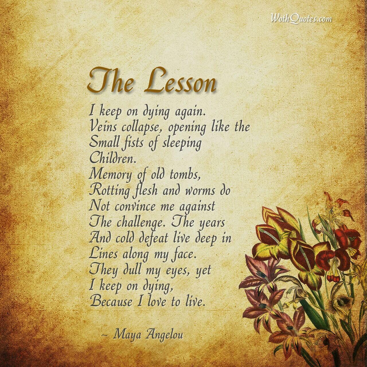 Maya Angelou Self Love Poems