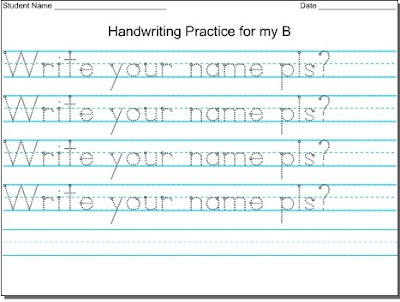 Mommy Tots: Handwriting Worksheet Maker