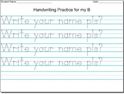 Mommy Tots Handwriting Worksheet Maker