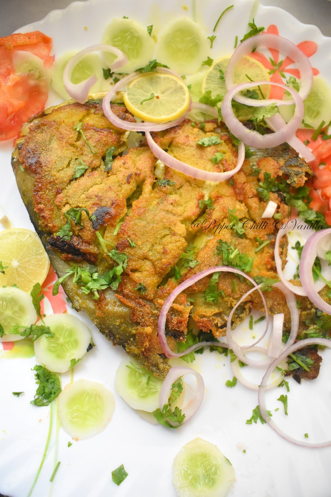 how to make green masala fish fry