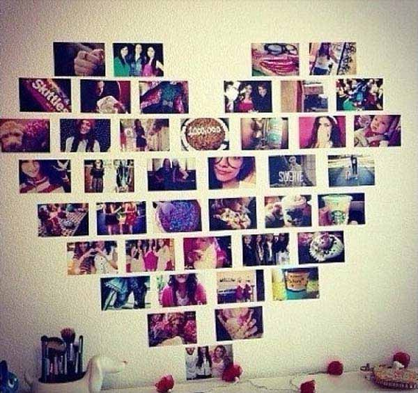 Foto dengan dibentuk love