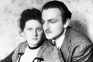 Aniela i Włodzimierz Dębscy rok po ślubie